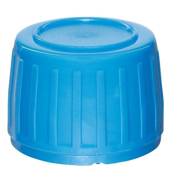 Schraubverschluss blau 28mm für Medizinflaschen (OV) mit EPE-Dichtscheibe