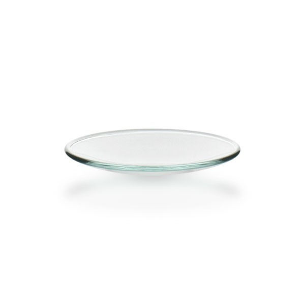 Uhrglasschale 60 mm / Borosilikatglas 3.3 / Rand verschmolzen