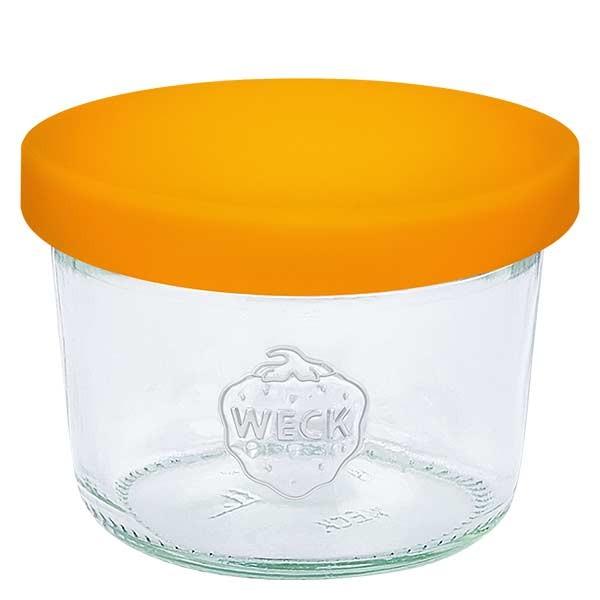 80ml Sturzglas WECK RR60 mit Silikondeckel orange