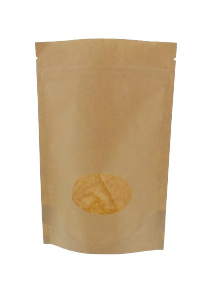 Kraftpapier- Standbodenbeutel Beutel braun (Füllmenge ca. 250g / 160x230mm)