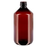 PET Medizinflasche 500ml braun PP28, o. Verschl.
