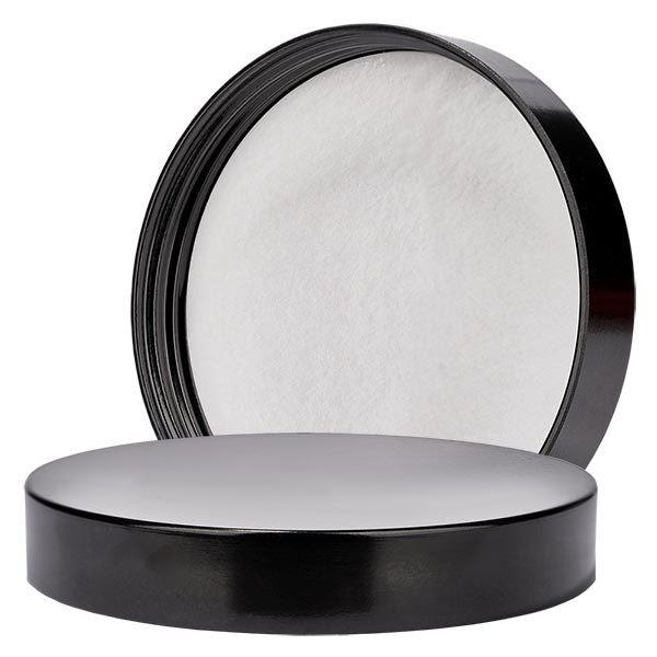 Deckel aus schwarzem Bakelit für 250 ml Salbenglas 83mm/R3