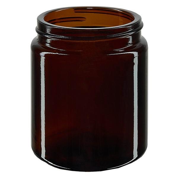 Salbenglas (Glastiegel) 100 ml braun, ohne Deckel