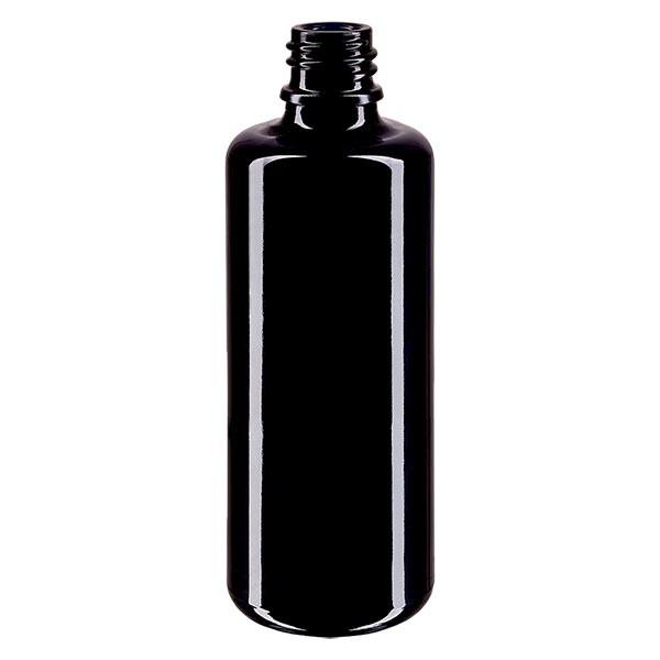 Violettglas Flasche 50ml DIN 18 (Mironglas)