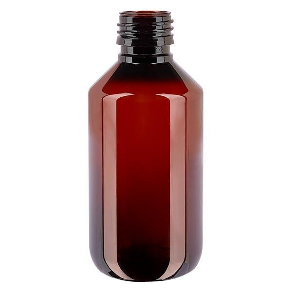 PET Medizinflasche 200ml braun PP28, o. Verschl.