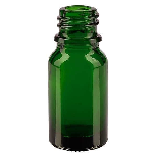 Tropfflasche 10ml ND 18 Grünglas Apothekenglas