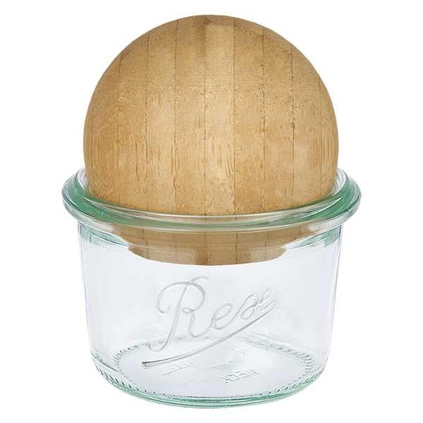 REX-Sturzglas 80ml mit Holzkugel