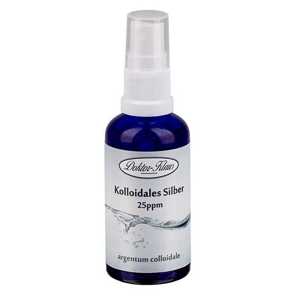 50 ml Kolloidales Silber Doktor-Klaus, 25ppm, Blauglasflasche mit Sprayaufsatz