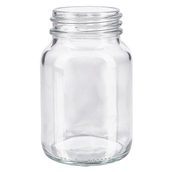 Weithalsflasche 250ml Klarglas mit DIN 55 Mündung ohne Verschluß