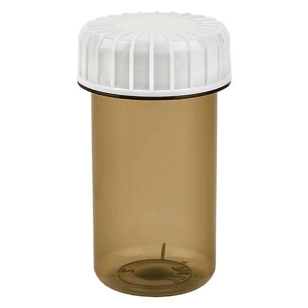 Kunststoffdose 20ml Shadow mit gerilltem weissen Schraubdeckel aus PE, Verschlussart Standard