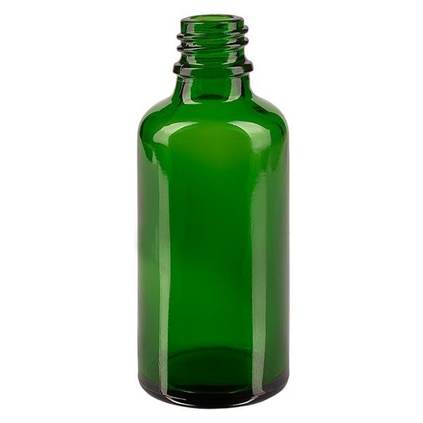 Tropfflasche 50ml ND 18 Grünglas Apothekenglas