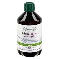 500ml Bio-Primasprit 96% vol. Alc. in brauner PET Flasche mit OV (Weingeist Trinkalkolhol)