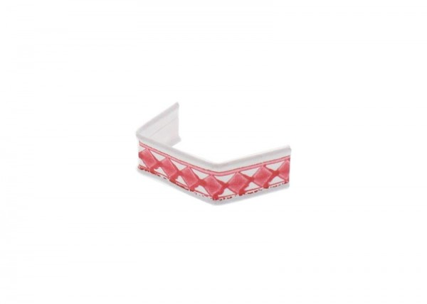100 x U-Clip aus Papier, Länge 40, rot-weiß