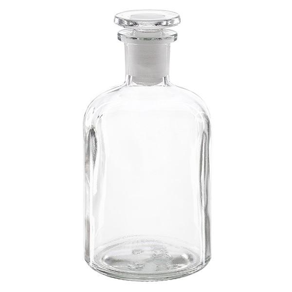 Apothekerflasche 250 ml Enghals Klarglas inkl. Glasstopfen