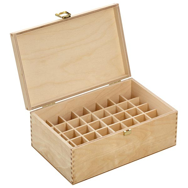 Bachblüten / Globuli Holzbox Gr. 10 aus hellem Birkenholz für 40 Flaschen