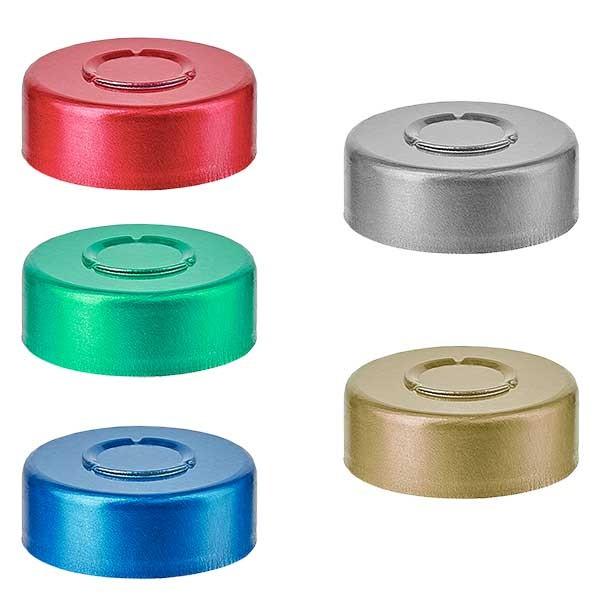 Bördelkappe MITTEL-Abriss 20.25 x 7.4 mm, Farbwahl