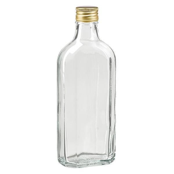 200 ml Meplat klar mit Alu Verschluss gold PP22