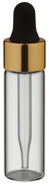 Mini Pipettenflasche 5 ml mit Präzisions-Glaspipette