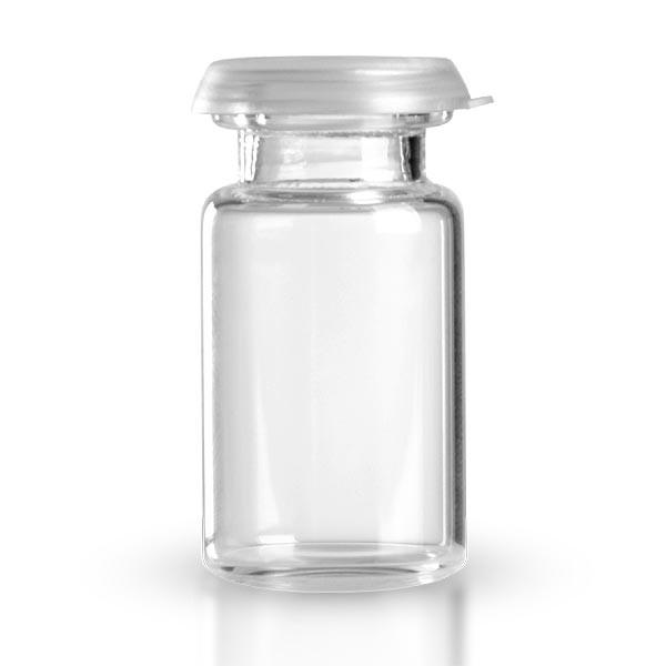 5 ml Tablettenglas / Rollrandglas klar inkl. Schnappdeckel