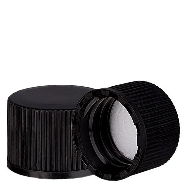 Schraubverschluss schwarz mit PE Einlage, S20x3