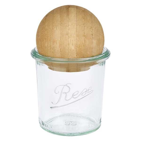 REX-Sturzglas 140ml mit Holzkugel