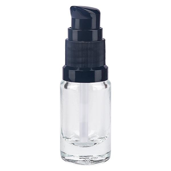 Apothekenflasche klar 5ml Pumpverschluss schwarz Standard