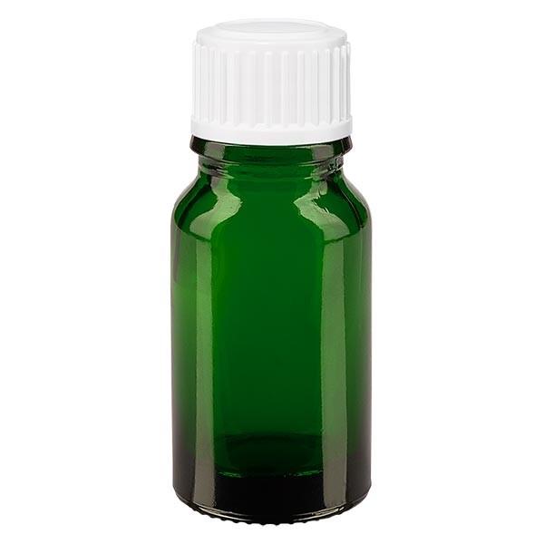 Apothekenfl. grün 10ml Tropfv. weiss 0.8mm St