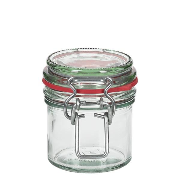 135 ml Drahtbügelglas / Spannbügelglas rund, für Pasteurisation geeignet