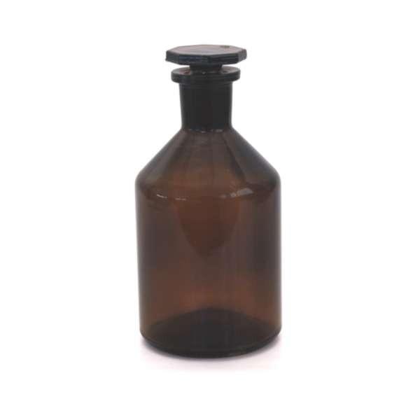 250ml Steilbrustflasche Enghals Braunglas Glasstopfen