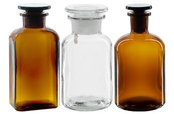Gem Bild Hohe QualitäT Und Preiswert Alte Apothekerflaschen Geschliffene Glasstopfen Braunglas