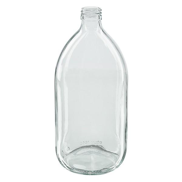 1000ml Euro-Medizinflasche klar