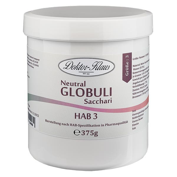 375g Neutral Globuli HAB3 aus 100% reiner Saccharose