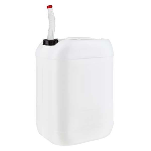 Kanister 25 Liter mit Auslaufrohr flex