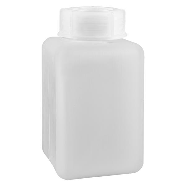 Chemikalienflasche 1000ml, Weithals aus PE-HD, naturfarbig, inkl. Schraubverschluss GL 65