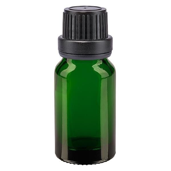 Apothekenfl. grün 10ml Tropfv. Pr. 2mm schwarz OV