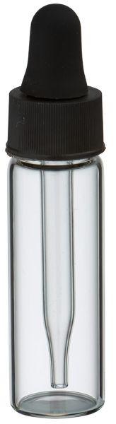 Mini Pipettenflasche 5ml Klarglas mit Tropf-Glaspipette