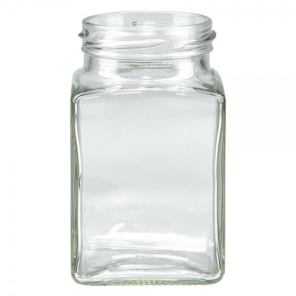 Twist-Off-Glas 260ml 4-Eckglas