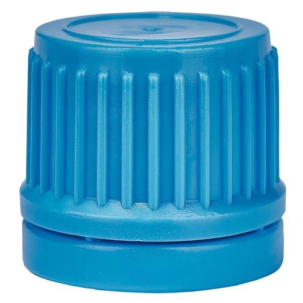 Schraubverschluss, blau, DIN18, mit OV