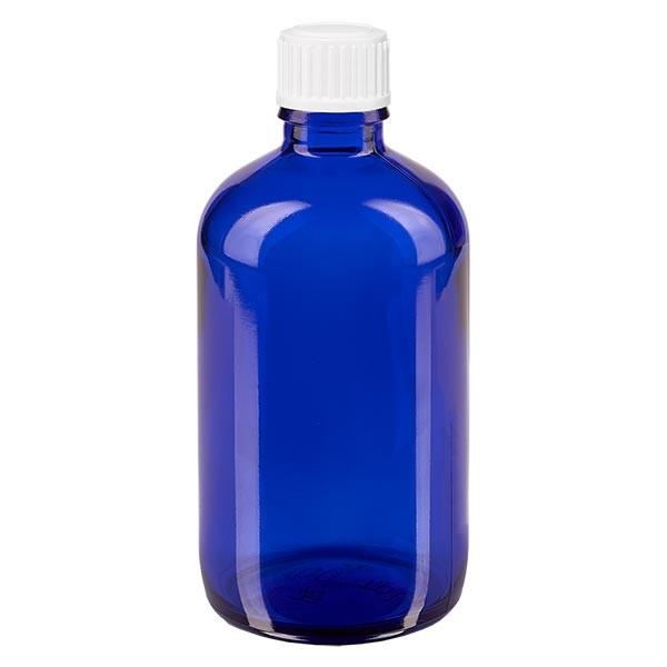 Apothekenfl. blau 100ml Schraubv weiss Globuli St