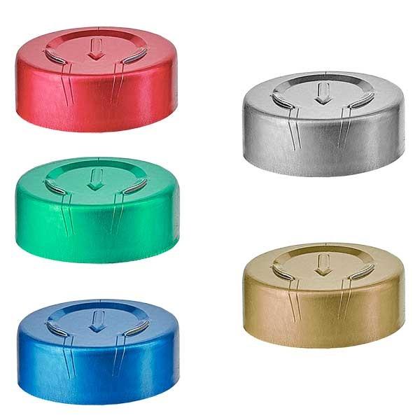 Bördelkappe GANZ-Abriss 20.25 x 7.4 mm, Farbwahl