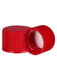 Schraubverschluss rot mit PE Einlage, S20x3