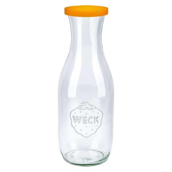 1062ml Saftflasche WECK RR60 mit Silikond. orange