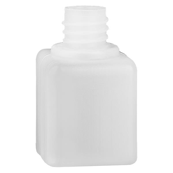 Chemikalienflasche 20ml, Enghals aus PE-HD, naturfarbig, GL 18