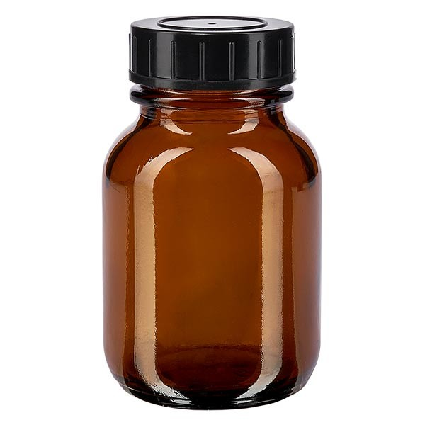 Weithalsflasche 50ml Braunglas mit Schraubdeckel