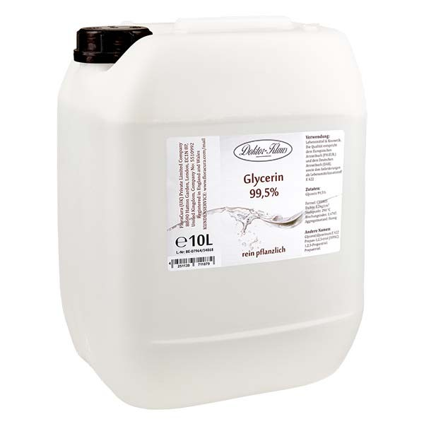 Glycerin 99.5% im 10 Liter HDPE Kanister von Doktor Klaus - E 422
