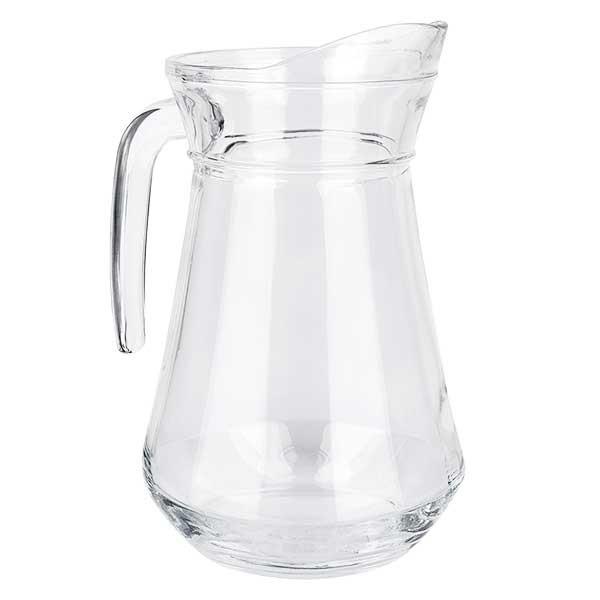 Glaskanne France 1.0 Liter aus gehärtetem Klarglas aus Frankreich