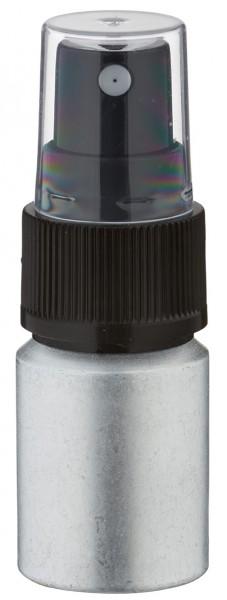 10ml Aluminium-Flasche gebeizt inkl. Pumpzerstäuber schwarz