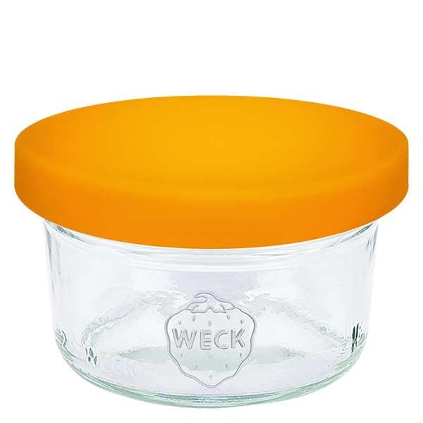 50ml Sturzglas WECK RR60 mit Silikond. orange