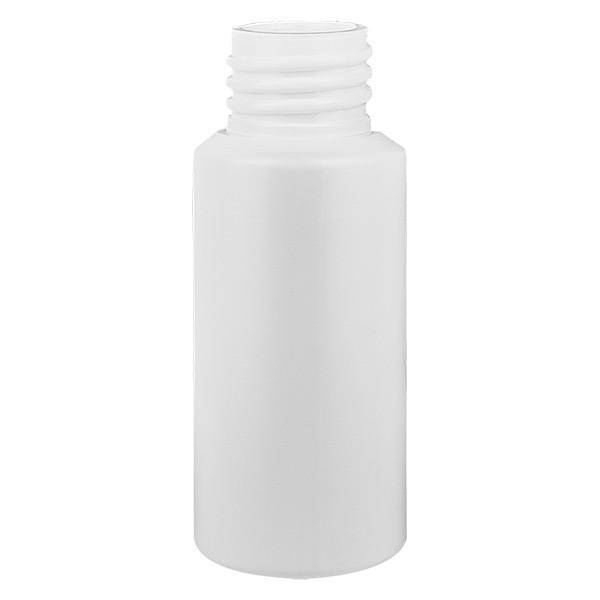 PET Zylinderflasche 25ml weiss, S20x3, ohne Verschluss