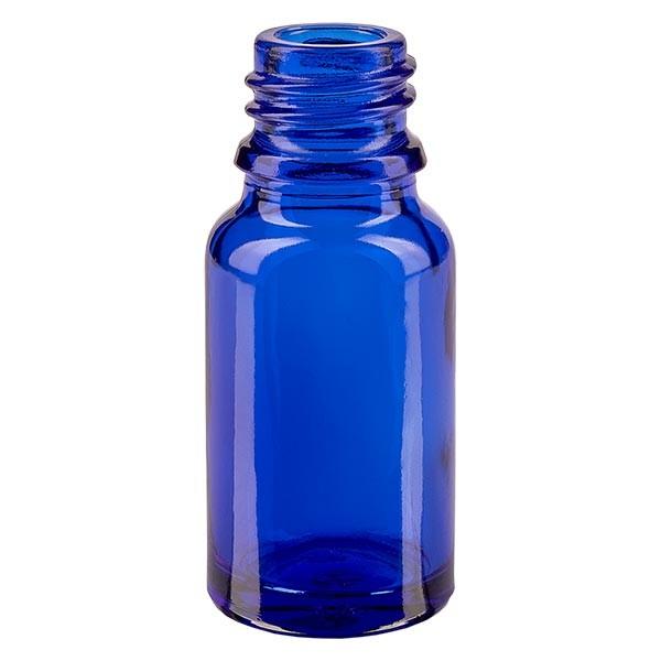 Tropfflasche 10ml ND 18 Blauglas Apothekenglas